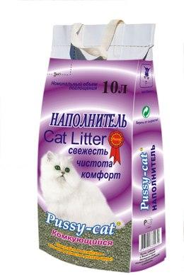 Наполнитель Pussy-cat 10л комкующийся.
