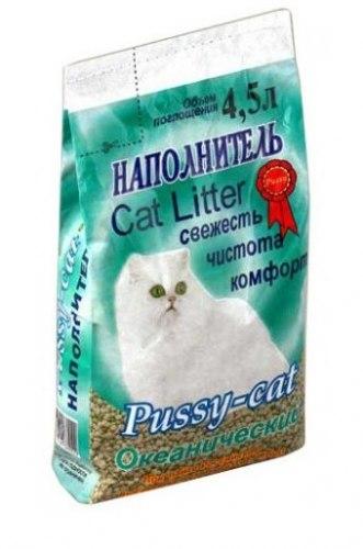Наполнитель Pussy-cat 4,5л океанический.