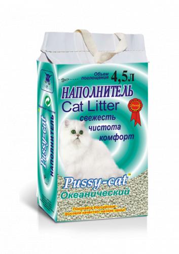 Наполнитель Pussy-cat 10л океанический.