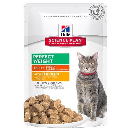 Влажный корм Hills для взрослых кошек с курицей в соусе, 85г