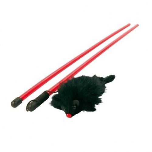Дразнилка TRIXIE для кошки с пушистой мышью, 50см