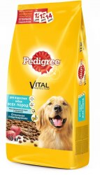 Сухой корм Pedigree® для взрослых собак всех пород с говядиной 1 кг
