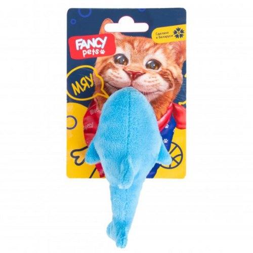 Мягкая игрушка FANCY PETS для кошек Акула с погремушкой, 10 см
