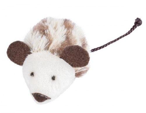 Мягкая игрушка FANCY PETS для кошек Мышь с пищалкой, 7 см