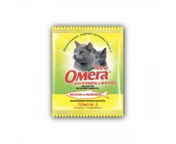 Мультивитаминное лакомство Омега Neo для кошек с таурином,L-карнитином, саше 15табл
