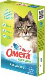 Мультивитаминное лакомство Омега Neo К-ВШ с ржаным солодом для кошек 90таб.
