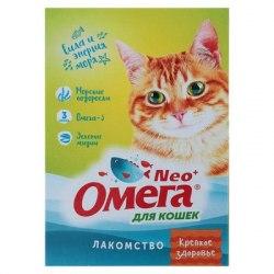 Мультивитаминное лакомство Омега Neo К-З с морскими водорослями для кошек 90таб