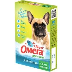 Мультивитаминное лакомство Омега Neo С-Д с мятой и имбирем для собак 90таб.