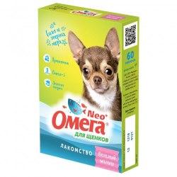 Мультивитаминное лакомство Омега Neo С-М с пребиотиком для щенков 60 таб.