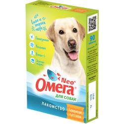 Мультивитаминное лакомство Омега Neo С-С с глюкозамином и коллагеном для собак 90таб