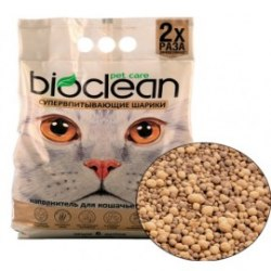 Наполнитель BIOCLEAN для кошачьего туалета 6 л, супер впитывающий