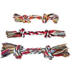 """Игрушка В НАЛИЧИИ TRIXIE для собаки """"DENTAfun"""" в виде веревки с двумя узлами, хлопковая, 470г/40см"""