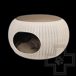 Домик CURVER для кошек, кремовый 55см