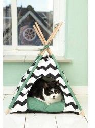 Палатка Beeztees для кота Kioni черно-белая 50*50*80см