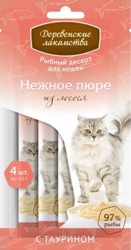 Нежное пюре Деревенские лакомства для кошек, 1 шт/10г