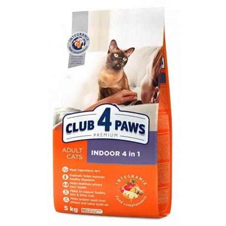Сухой корм Club 4 Paws для кошек живущих дома 4 в 1 НА РАЗВЕС 100г