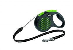 Рулетка Flexi Desing Black S до 12кг/5м, зеленая