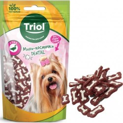 Мини-косточки Triol Dental из утки для мини-собак, 50г