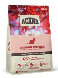 Сухой корм ACANA INDOOR ENTRÉE Cat (Курица, сельдь, индейка) Низкозерновой корм для взрослых кошек всех пород 1,8кг