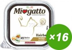 Паштет Miogatto Hairball, с курицей для кошек, 100г