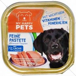 Паштет My happy Pets для собак с лососем, 300г