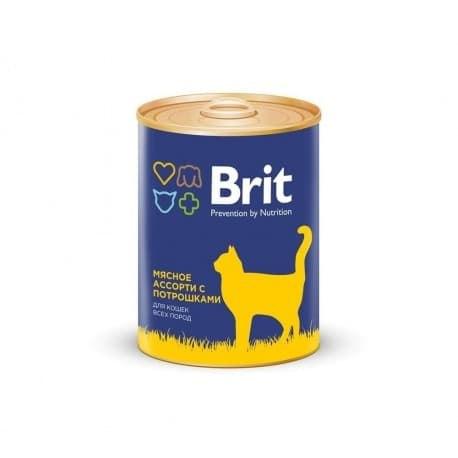 Консерва Brit для кошек BEEF AND OFFAL MEDLEY Мясное ассорти с потрошками, 340 г