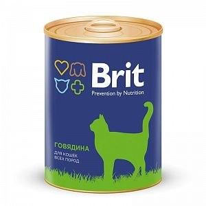 Консерва Brit для кошек BEEF Говядина, 340 г