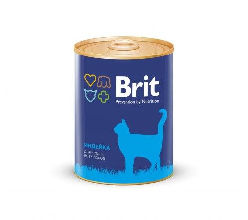 Консерва Brit для кошек TURKEY Индейка, 340 г