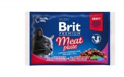 Набор паучей Brit для кошек Meat Plate Мясная тарелка,4*100г