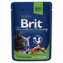 Консерва Brit Premium Chicken Slice for Sterilized Курица для стерилизов.кошек, 100г*24шт