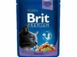 Консерва Brit Premium Cod Fish pouch Треска, 100г*24шт