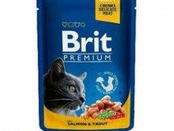 Консерва Brit Premium Salmon & Trout Лосось и форель, 100г*24шт