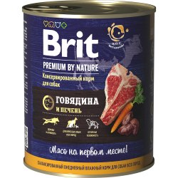 Консерва Brit Premium BY NATURE Говядина и печень, 850г