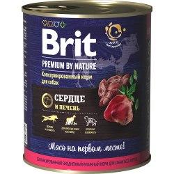 Консерва Brit Premium BY NATURE Сердце и печень, 850г