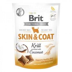 Лакомство Brit Care Dog Functional Snack Skin&Coat с крилем (Здоровье кожи и шерсти) 150 g