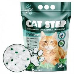 """Наполнитель Cat Step """"Мята"""" 3,8л, силикагелевый впитывающий"""