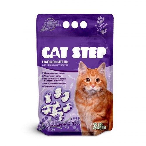 """Наполнитель Cat Step """"Лаванда"""" 3,8л, силикагелевый впитывающий"""