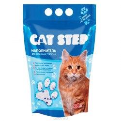 Наполнитель Cat Step 3,8л, силикагелевый впитывающий