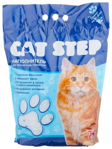 Наполнитель Cat Step 7,6л, силикагелевый впитывающий