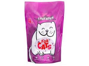Наполнитель For CATS силикагелевый с ароматом лаванды, 4 л.