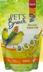 Корм Pet's Brunch сухой для птиц всех видов «Функциональный десерт Biscotti Yelow Soft», 230г