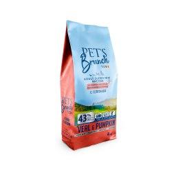 Сухой корм Pet's Brunch для взрослых собак миниатюрных пород, с ТЕЛЯТИНОЙ, 4 кг