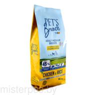 Сухой корм Pet's Brunch для взрослых собак средних пород 14 кг