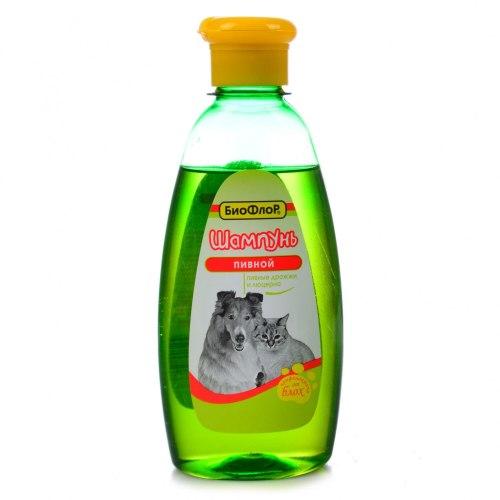 Шампунь БиоФлор Пивной, для собак и кошек 245 мл