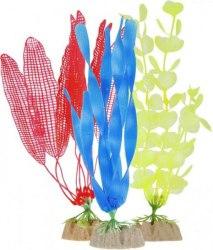 Набор растений GloFish S желтое, L оранжевое, L синее