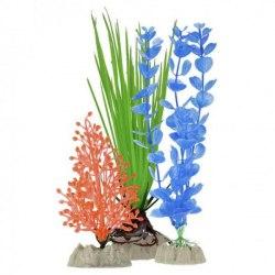 Набор растений GloFish S оранжевое, M зеленое, L синее