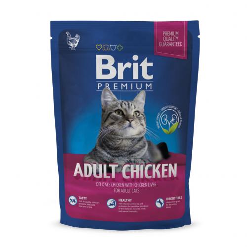 Сухой корм Brit 1,5 кг Premium Cat Adult Chicken