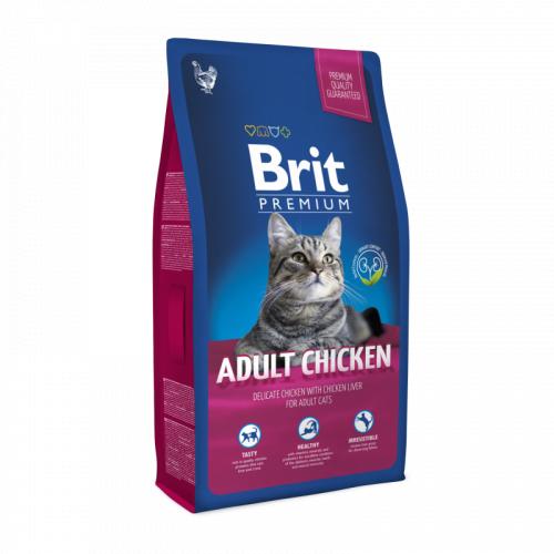 Сухой корм Brit 8 кг Premium Cat Adult Chicken