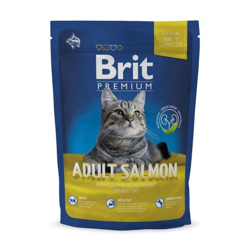 Сухой корм Brit 1,5кг Premium Cat Adult Salmon