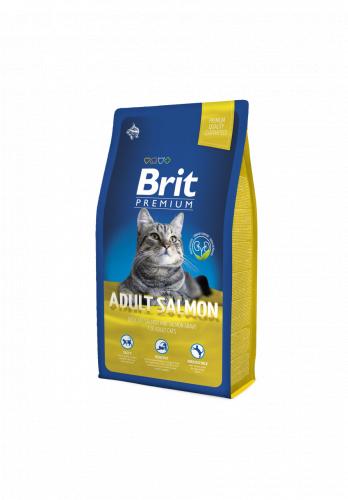 Сухой корм Brit 8кг Premium Cat Adult Salmon